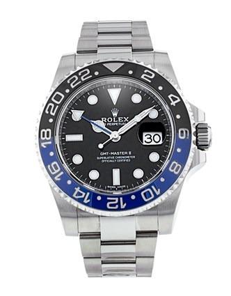 Rolex GMT-Master II 116710 Herren Automatikuhr mit schwarzem Zifferblatt 40 mm