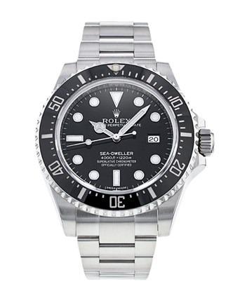Rolex Sea-Dweller 116600 Herrenuhr aus Stahl 40 mm schwarzes Zifferblatt